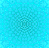 Concentric circle ornament turquoise blue centered Stock Images