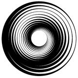 Concentric circle, rings. Suitable as an abstract design element stock illustration