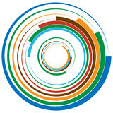 Concentric circle, rings. Suitable as an abstract design element royalty free illustration