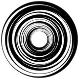 Concentric circle, rings. Suitable as an abstract design element Stock Photo