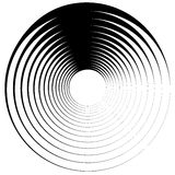 Concentric circle, rings. Suitable as an abstract design element Royalty Free Stock Photo