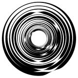 Concentric circle, rings. Suitable as an abstract design element Stock Photos
