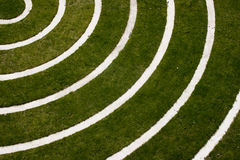 Concentric circles. On a grass field Royalty Free Stock Photography