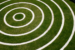 Concentric circles. On a grass field Royalty Free Stock Photo