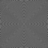 Concentric Circles. Abstract Black and White Graphics Stock Photo