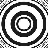 Concentric circles abstract circular pattern. Geometric monochrome pattern with radial / radiating circles, rings. Royalty free vector illustration vector illustration