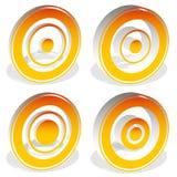Concentric circles, bullseye, cross-hair, reticle, target mark i Stock Images