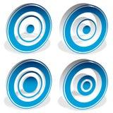 Concentric circles, bullseye, cross-hair, reticle, target mark i Stock Image