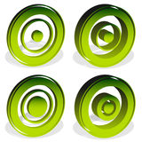 Concentric circles, bullseye, cross-hair, reticle, target mark i Stock Photography