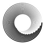 Concentric circles, concentric rings. Abstract radial graphics. Royalty free vector illustration stock illustration