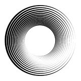 Concentric circles, concentric rings. Abstract radial graphics. Royalty free vector illustration royalty free illustration