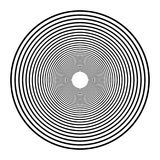 Concentric circles, concentric rings. Abstract radial graphics. stock illustration