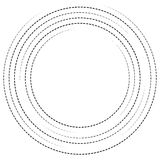 Concentric circles with dashed lines. Circular spiral element. Royalty free vector illustration royalty free illustration