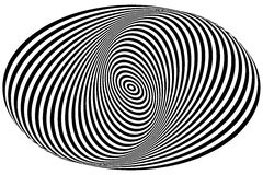 Concentric circles forming a spiral. Ovals, ellipses pattern Royalty Free Stock Photo
