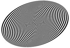 Concentric circles forming a spiral. Ovals, ellipses pattern Royalty Free Stock Images