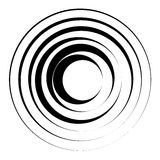 Concentric circles geometric element. Radial, radiating circular Royalty Free Stock Photos