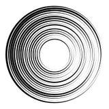 Concentric circles geometric element. Radial, radiating circular. Graphic stock illustration