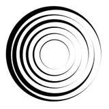 Concentric circles geometric element. Radial, radiating circular. Graphic vector illustration