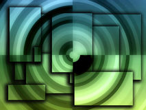 Concentric circles Stock Images