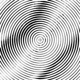 Concentric circles halftone background. Concentric Circles Halftone Engraving Black and White Striped Texture. Lined Gradient Template for Design, Background stock illustration