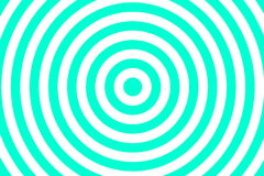 Concentric circles. Illustration of cyan and white concentric circles vector illustration