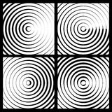 Concentric circles monochrome abstract background. radiating cir. Cles, rings. - Royalty free vector illustration vector illustration