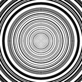 Concentric circles pattern. Abstract monochrome-geometric illust. Ration. - Royalty free vector illustration stock illustration