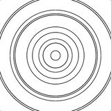 Concentric circles pattern. Abstract monochrome-geometric illust. Ration. - Royalty free vector illustration vector illustration