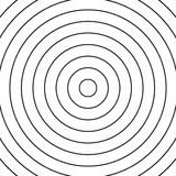Concentric circles pattern. Abstract monochrome-geometric illustration. Royalty free vector illustration royalty free illustration