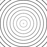 Concentric circles pattern. Abstract monochrome-geometric illustration. Royalty free vector illustration vector illustration