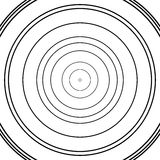 Concentric circles pattern. Abstract monochrome-geometric illustration. Royalty free vector illustration stock illustration