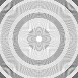 Concentric circles pattern. Black and white vector illustration
