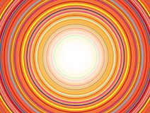 Concentric Circles Pattern, Orange. Abstract Colorful Concentric Circles Pattern, Vector Design stock illustration