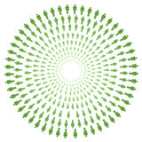 Concentric circles of people Royalty Free Stock Image