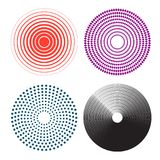 Concentric circles, radial lines pattern. Pain circle. On white background. Vector illustration vector illustration