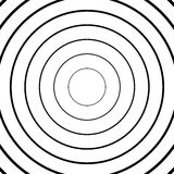 Concentric circles, radial lines patterns. Monochrome abstract. Elements - Royalty free vector illustration stock illustration