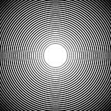Concentric circles, radial lines patterns. Monochrome abstract. Elements - Royalty free vector illustration Stock Photos