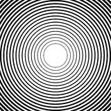 Concentric circles, radial lines patterns. Monochrome abstract. Elements - Royalty free vector illustration royalty free illustration