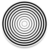 Concentric circles, rings abstract geometric element. Ripple, impact effect. Royalty free vector illustration stock illustration
