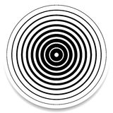 Concentric circles, rings abstract geometric element. Ripple, impact effect stock illustration