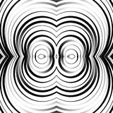 Concentric circles, rings abstract pattern. Monochrome geometric. Illustration. - Royalty free vector illustration stock illustration