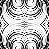 Concentric circles, rings abstract pattern. Monochrome geometric. Illustration. - Royalty free vector illustration royalty free illustration