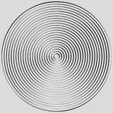 Concentric circles, concentric rings. Abstract radial graphics. royalty free illustration