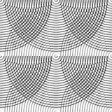 Concentric circles seamless monochrome pattern. Abstract geometr. Y background - Royalty free vector illustration Stock Image