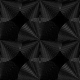 Concentric circles seamless monochrome pattern. Abstract geometr. Y background - Royalty free vector illustration Royalty Free Stock Photo