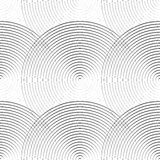 Concentric circles seamless monochrome pattern. Abstract geometr. Y background - Royalty free vector illustration Royalty Free Stock Image