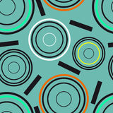 Concentric circles seamless pattern Stock Image
