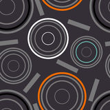 Concentric circles seamless pattern. Vector Illustration vector illustration