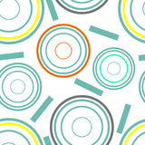 Concentric circles seamless pattern Stock Photo