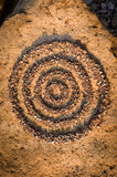 Concentric circles of small stones Stock Images